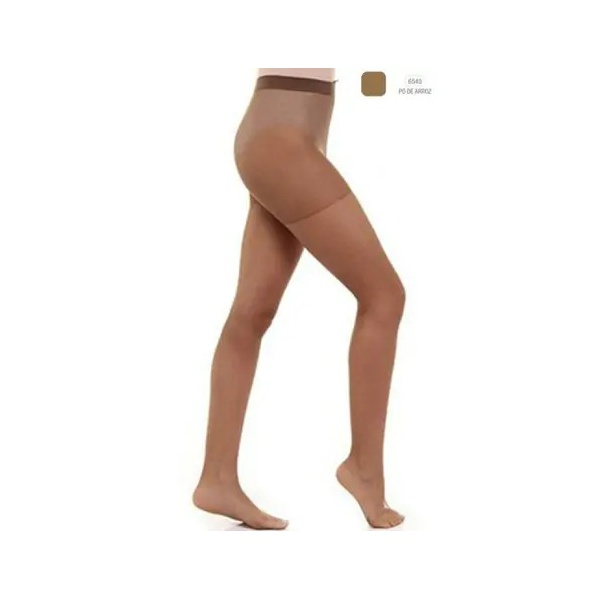 Meia Calça LOBA FIO 15 Nude