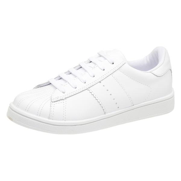 Tênis branco couro Donna Clô