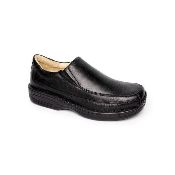 Sapato Masculino em Couro Super Conforto tipo Cor Preta