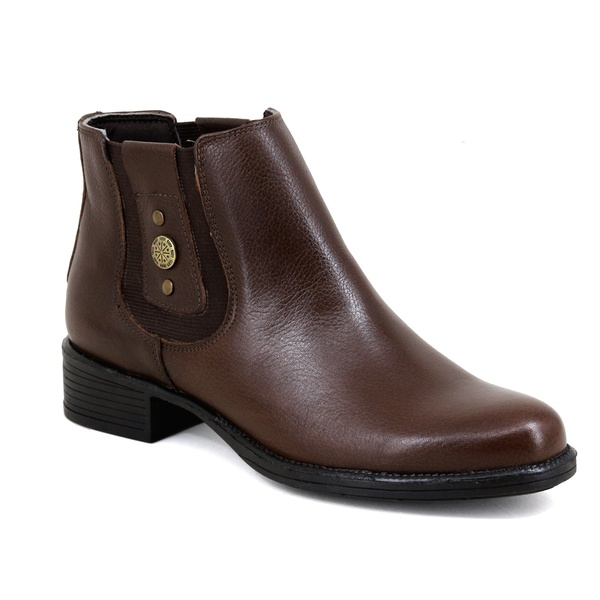 Botina Chelsea Boots Feminina Couro Legitimo