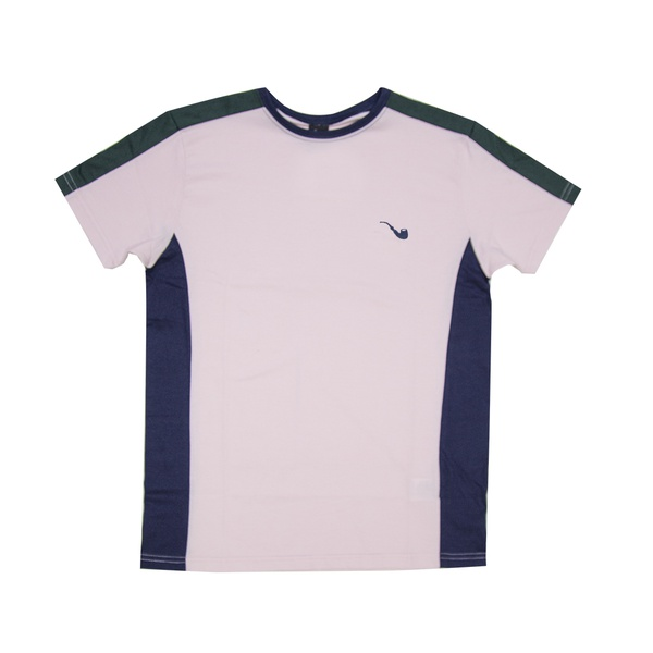 Camiseta Blaze Supply Tee Pipe Embroidery Tricolor Rose
