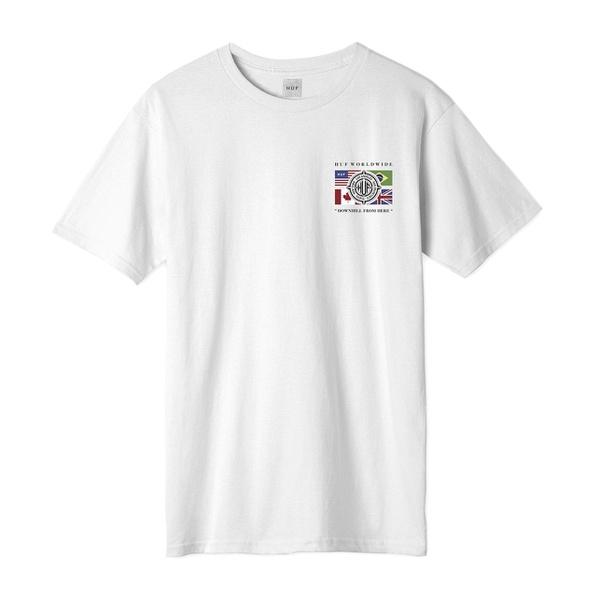 Camiseta HUF Global Wave White