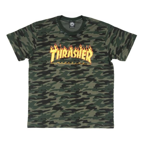 Camiseta Thrasher Flame Mag Camo