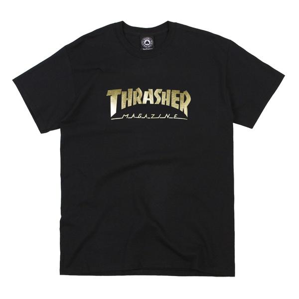 Camiseta Thrasher Gold Foil Mag Logo Black