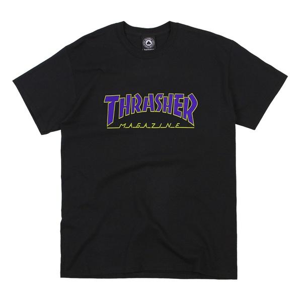 Camiseta Thrasher Outlined Black Purple