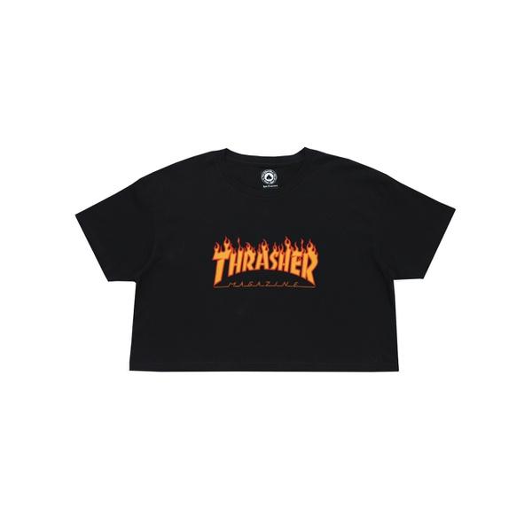 Camiseta Thrasher Feminina Flame Cropped
