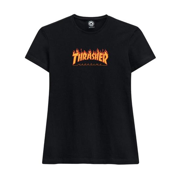 Camiseta Thrasher Feminina Flame Logo