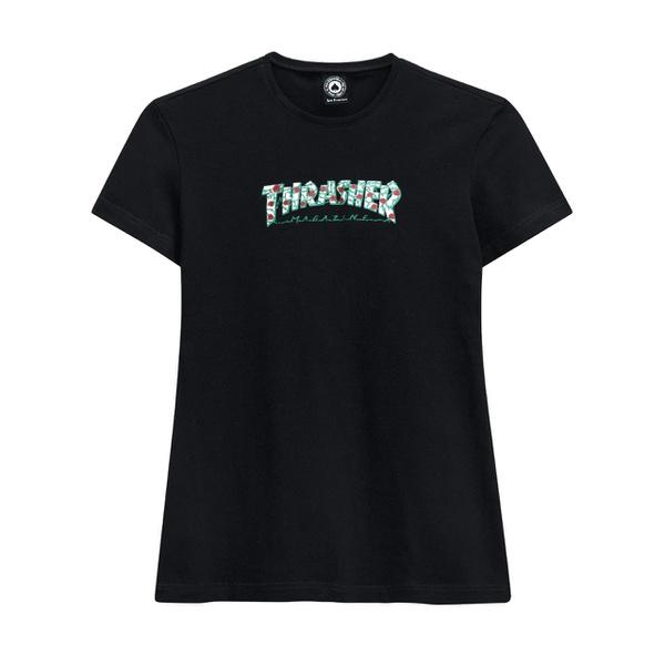 Camiseta Thrasher Feminina Roses Black