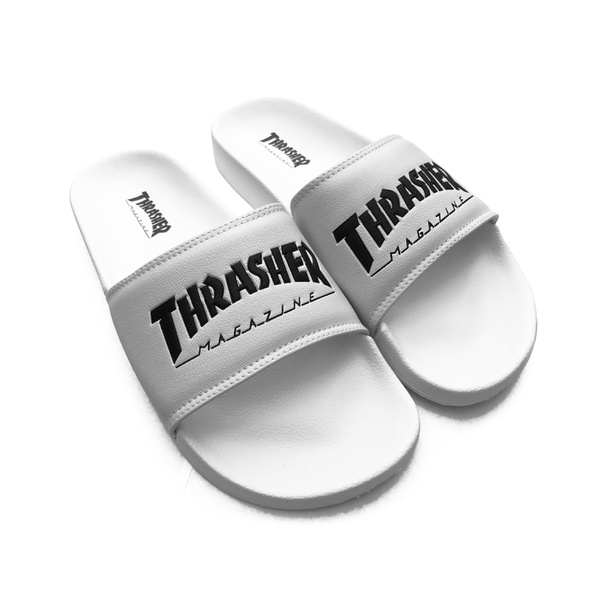 Chinelo Thrasher Skate Mag White