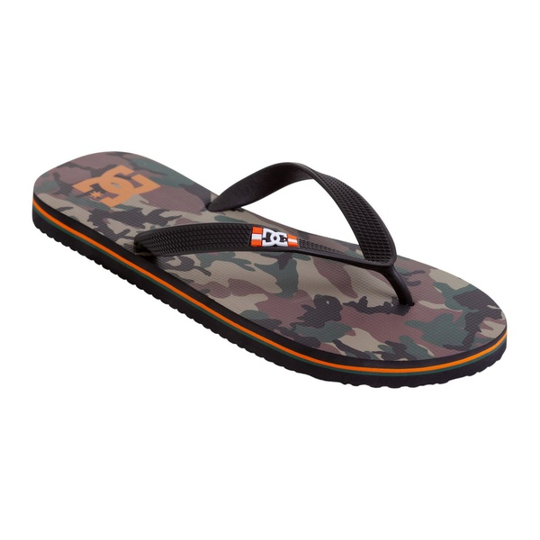 DC Shoes Sandals Spray Graffik Camo Orange