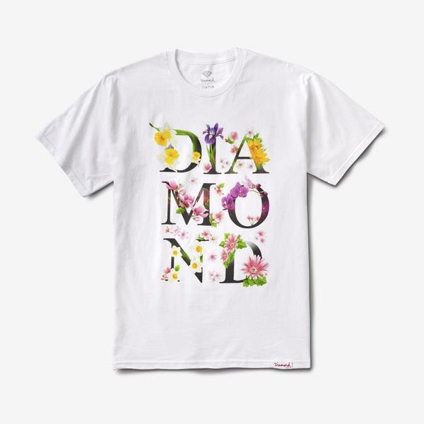 Camiseta Diamond Botanical White
