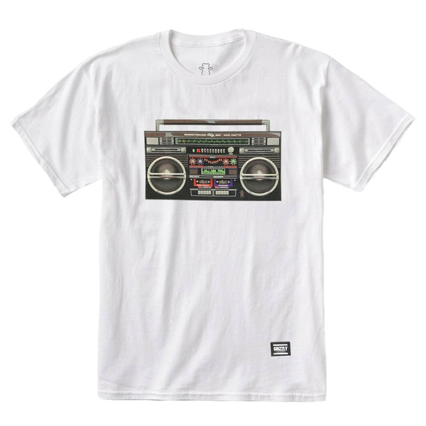 Camiseta Grizzly Boom Box White