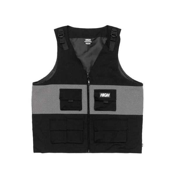 Strapped High Vest Black