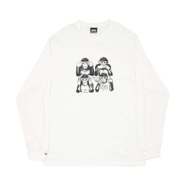 Longsleeve High Monkeys White