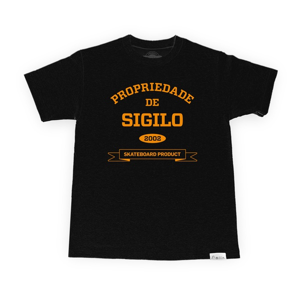 Camiseta Sigilo Propriedade de Sigilo Preto