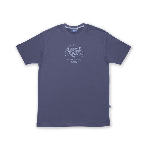 Camiseta Tupode Mente Aberta Chumbo