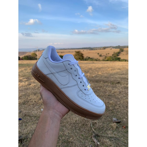 Nike Air Force 1 Branco e Latex