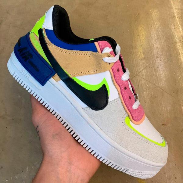 Nike Air Force Shadow Feminino Camurça