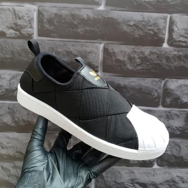 Adidas Superstar Slip Matelasse Preto e Branco