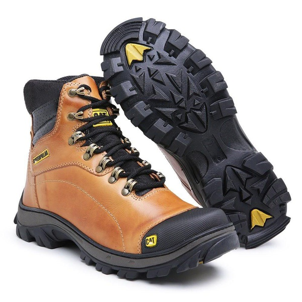 Bota Caterpillar Adventure Explorer - Mostarda Lisa