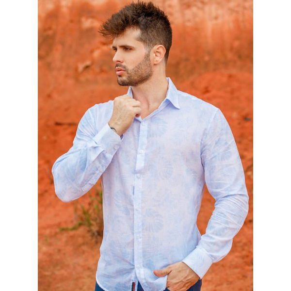 Camisa Social Details Blue Light Ml