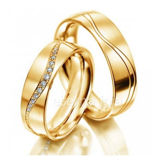 Aliança de Casamento e Noivado em Ouro 18K (PAR) 5,0mm