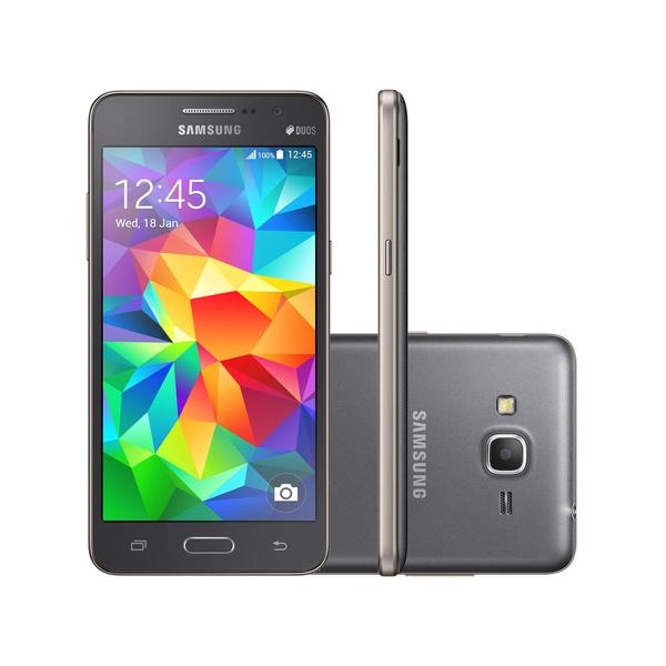 Smartphone Samsung Galaxy Gran Prime Duos 8GB - Dual Chip 4G Câm. 8MP + Selfie 5MP