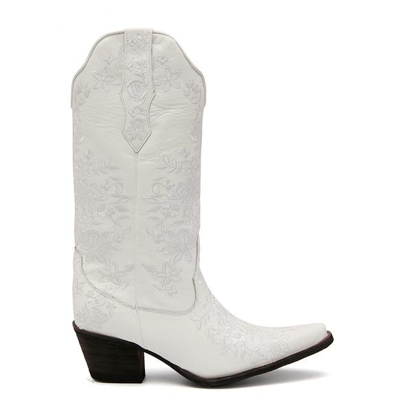 Bota Texana Feminina Calvert Branco