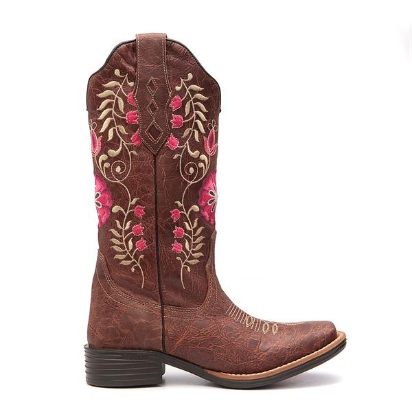 Bota Texana Feminina Cameron Marrom