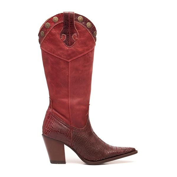 Bota Texana Feminina Iowa Vermelha