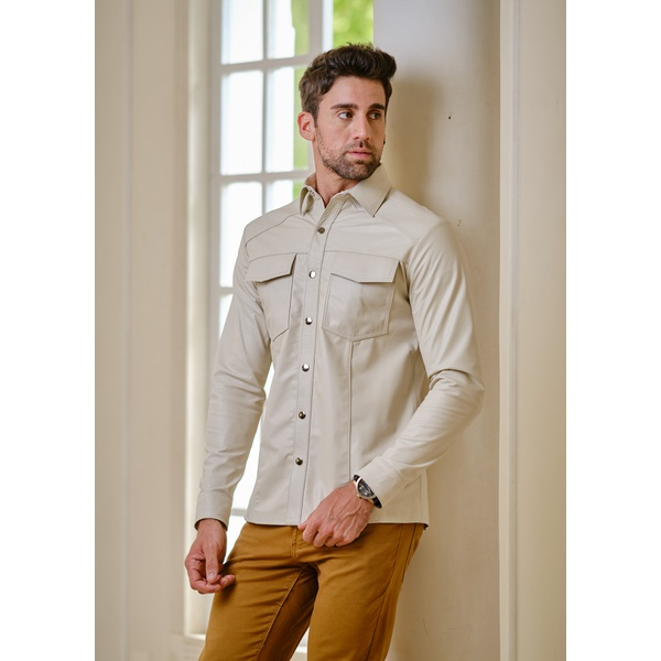 Camisa de Couro Masculina Off-white Henry
