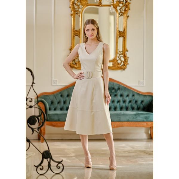 Vestido de Couro Feminino Off-White Valentina