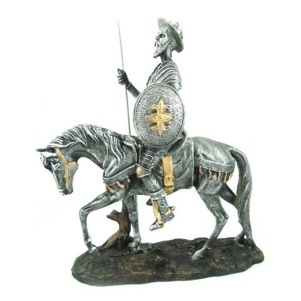 Dom Quixote de La Mancha Prata no Cavalo