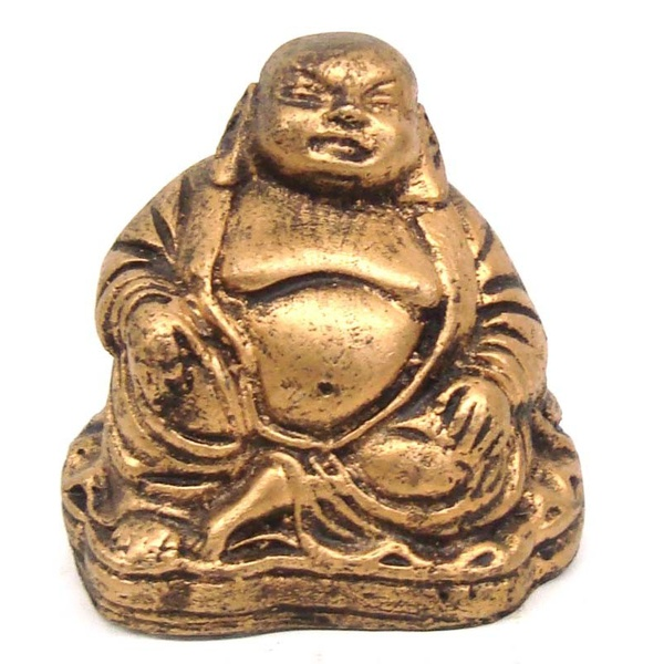 Buda Chinês Pequeno Dourado