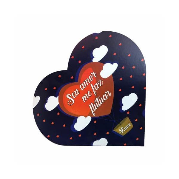 Caixa Formato Coração seu amor me faz flutuar 20 unit 16x16x4