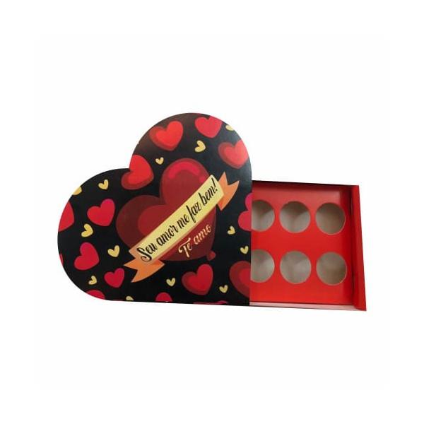 caixa formato coração seu amor me faz bem 20 unit 16x16x4