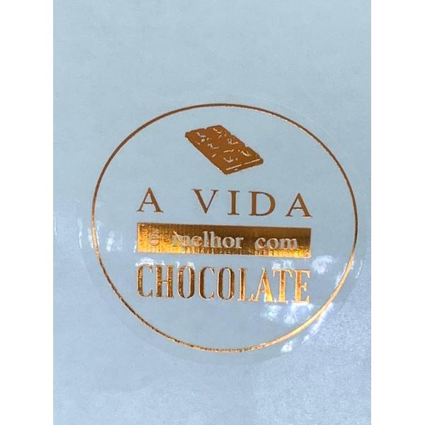ADESIVO A VIDA É MELHOR COM CHOCOLATE