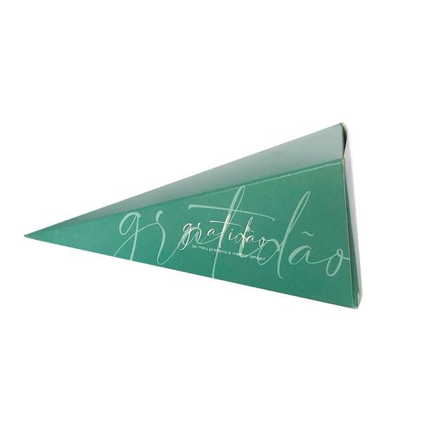 Caixa cone gratidão na cor verde