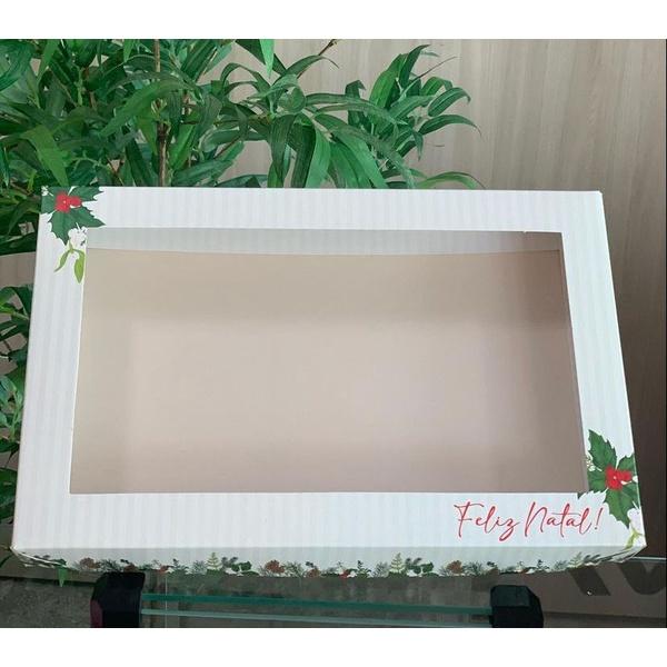 caixa com visor transparente