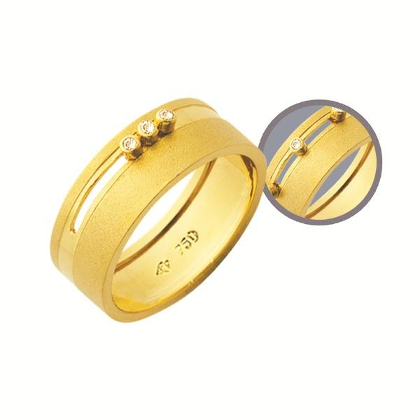 Alianças de casamento e noivado em ouro 18k 750 trabalhadas com pedras móveis 7 mm