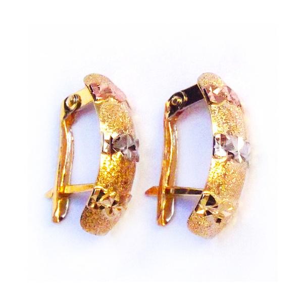Brinco de Ouro 3 cores Carreira Estelar