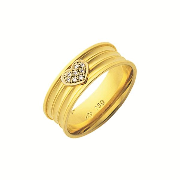 Alianças de casamento e noivado em ouro 18k 750 trabalhadas corações e pedras 7.00mm