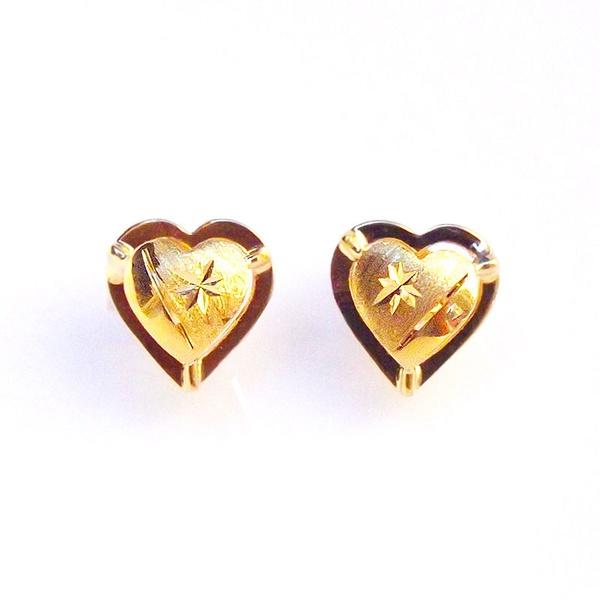 Brinco de Ouro 18k Delicato Coração