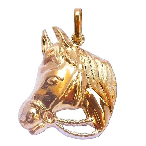 Pingente de Ouro 18k Cabeça de Cavalo