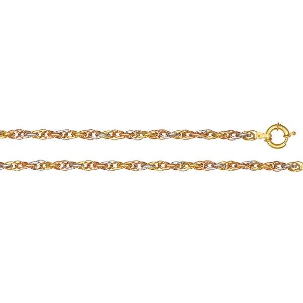 Pulseira de Ouro 18k 3 cores Sottile Anello