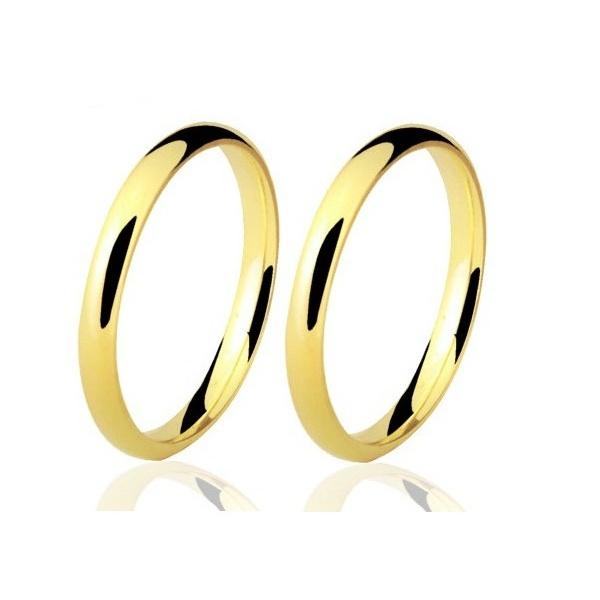 Alianças de casamento e noivado em ouro 18k 750 tradicional e anatômica 1,80 mm