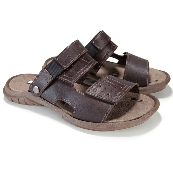 Sandália Papete Masculina Energiflex Arenito - Chocolate