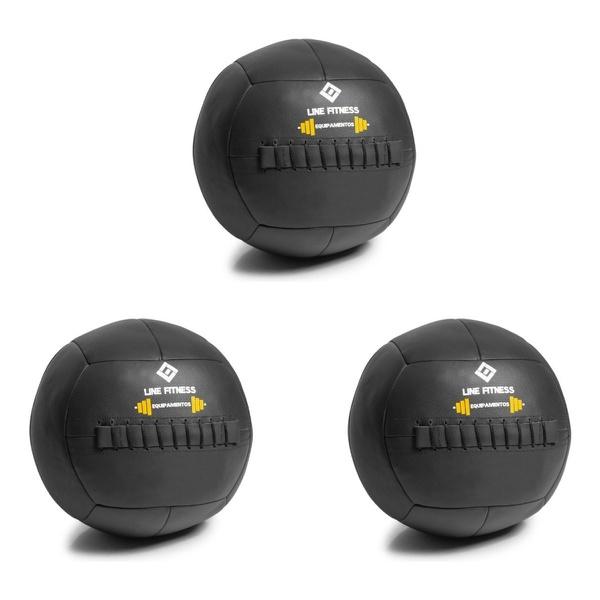 Kit De 3 Wall Ball Crossfit Funcional