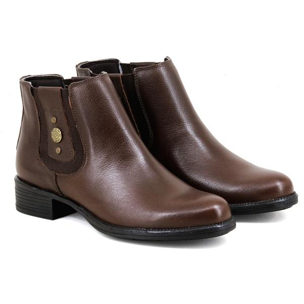 Botina Chelsea Boots Feminina Couro Legitimo Escrete