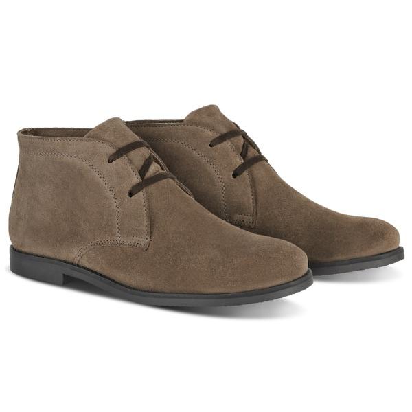 Bota Desert Boots Estilo Chelsea em Couro Legítimo Camurça